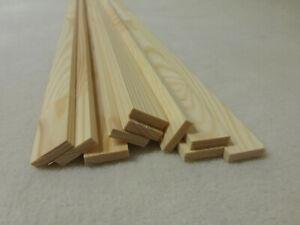 10Stk  100cm Rechteckleiste Kiefer 5x20mm Rechteck Holzleisten