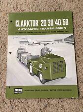 1970 Clark  Industrial equipment sales information brouchure.