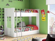 Litera de madera con somieres para colchones 90 x 190cm de dormitorio juvenil
