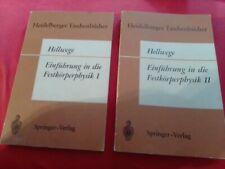 3 Bücher: Hellwege - Einführung in die Festkörperphysik I + II; Festkörperchemie