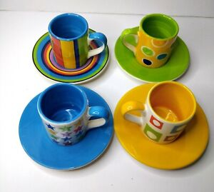 Whittard Of chelsea Espresso Collection Hand Painted Of 4