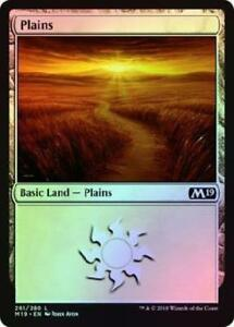 MTG - 2018 Gift Pack - 2X Plains - 261/280 - John Avon - FOIL - NM/M