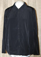 QVC SUSAN GRAVER PEACHSKIN SOLID ZIP FRONT JACKET BLACK 2X BRAND NEW W/TAGS