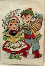 Vintage Merry Christmas Lacing Activity Card, Caroling Kids, Musical, Decor 🎶