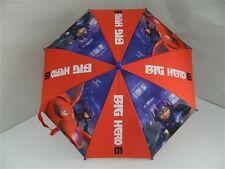 Ombrello Ombrellino pioggia bambino bimbo BIG HERO 6 Rosso e Blu con stampe T583