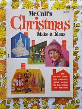 McCall's Christmas Make- It Ideas magazine 1960s craft vintage retro patterns