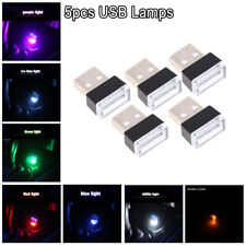 5pcs/Set Mini USB LED Car Interior Light Neon Atmosphere Ambient Lamp