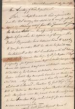 1816 document Norwich CT Joseph Williams to Secy Of War/Private Joseph Crandall