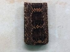 Westren Diamondback Rattlesnake Skin Money Clip