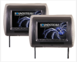 """2 - Soundstream VH-90CC Universal Replacement 9"""" Pair Headrests Package NEW!"""