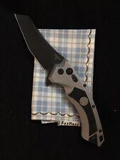 "Hogue X5 4"" Sig Folder CPM154 Wharncliffe Blade Black Finish - Grey Aluminum"