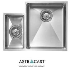 Astracast Foss 1.5 Bowl St Steel Undermount Kitchen Sink Left Hand Small Bowl