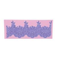 1Pcs Flower Lace Shaped Silicone Mold Mould Fondant Cake Making Decoration Tool