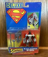 Blast Hammer Steel Vintage Superman Man Of Steel Action Figure New 1996 Kenner
