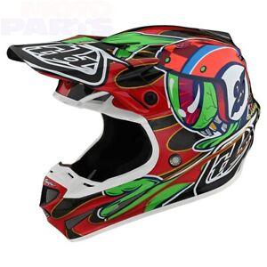 Helmet TLD SE4 Carbon Eyeball, black/red, size M (MIPS)