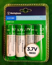 New 18650 Westinghouse Rechargeable Li-ion Vap Batteries 3.7v 2000 mAh 4 PACK