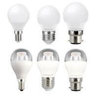 LED Mini Globe DIMMABLE B22 E27 E14 5.6W/6.3W (40W) 2700K Warm White Bulbs.