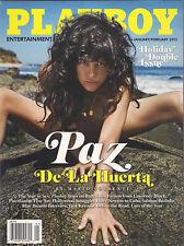 NEW SEALED! PLAYBOY 01/02/2013 Holiday Double Issue PAZ DE LA HUERTA Matt Damon