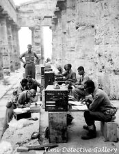 African American Soldiers at Greek Temple, Greece - 1943 - Historic Photo Print