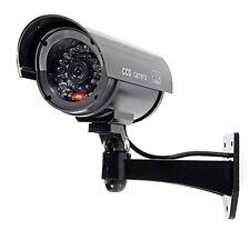 FAKE DUMMY CCTV SECURITY CAMERA BLACK FLASHING LED INDOOR OUTDOOR SURVEILLANCE