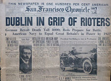Dublin Riots March 23 1920 Troops Clash with Civilians Original Paper Ireland B5