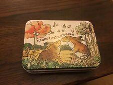 Gamebirds small rectangular Tin, Hares, 14x10x3.5cms