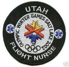 2002 WINTER OLYMPIC SALT LAKE UTAH FILGHT NURSE INSIGNIA PATCH