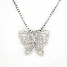 collier Papillon or blanc 18K 750/1000