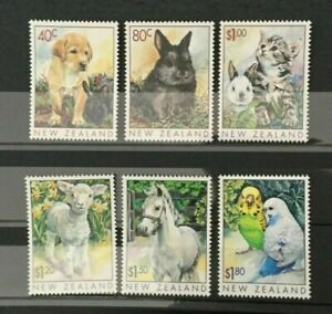 MINT 1999 NEW ZEALAND NZ POPULAR PETS STAMP SET OF 6