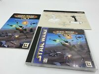 Star Wars Rogue Squadron 3D Video Game For PC Computer + Manual & Joystick Card