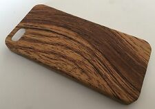 Apple Iphone 5 5S cover case protective hard back wood grain wooden oak L brown