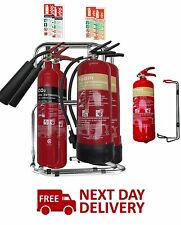Medium / Large Office Fire Safety Pack. 5 X Fire Extinguishers, stands ID signs