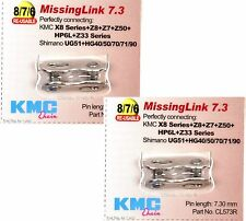 "KMC Z7 6//7//8 SPEED CHAIN 116 Links 1//2/"" x 3//32/"" 7.3mm NP//DK Silver HG Compatible"