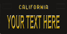 Custom Retro California License Plate Personalize You Pick text