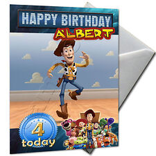 TOY STORY - PERSONALISED  Birthday Card Large A5
