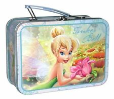 DISNEY TINKER BELL Tin Lunch Box Carry All Case NEW