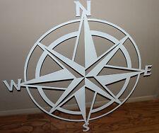 Nautical COMPASS ROSE  WALL ART DECOR  Mini Version  White Gloss