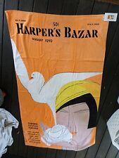 HARPERS BAZAAR retro vintage magazine cover art deco beach towel NWT NEW