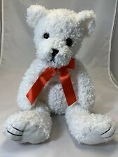 """First & Main 15"""" """"Tucker"""" White Bear With Red Bow"""