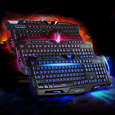 USB Gaming Wired Keyboard Backlit Backlight Illuminated Multimedia For PC Laptop