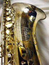 """KING SUPER 20 """"SILVERSONIC"""" TENOR SAXOPHONE STERLING BELL & NECK FULL PEARLS WOW"""