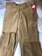 New ORVIS Corduroy Trouser Men's 36x31 Tan Pants Khaki Flat Front Tags Cotton