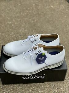 Footjoy Dryjoys Premiere Golf shoe White/navy Size 12 W Men's
