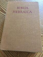 Biblia Hebraica All Hebrew Bible with Key Edited by R. Kittel