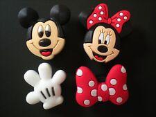 Jibbitz Croc Clog Shoe Charm Disney Mickey Minnie Mouse For Accessorie Wristband