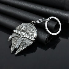 Vintage Silver Star Wars Millennium Falcon Metal Keychain ChicGift Bottle opener