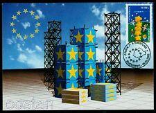 2000 Children playing,Building Star Tower,EU Union,EUROPA,Romania,5487,maxi card
