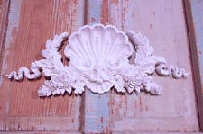 SHABBY n CHIC FURNITURE APPLIQUES * ARCHITECTURAL SHELL CREST * PAINTABLE