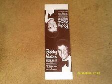 """Bobby Vinton concert promo card ('70's) Empire Room, Waldorf Astoria (4"""" x 17"""")"""