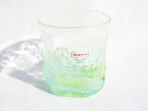 Green Water Wave Ryukyu Glass (Handmade in Okinawa, Japan)